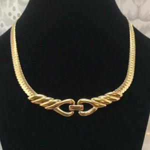 Napier Gold Tone Choker Necklace